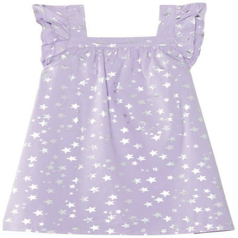 Hatley Purple Dress with Star Design
