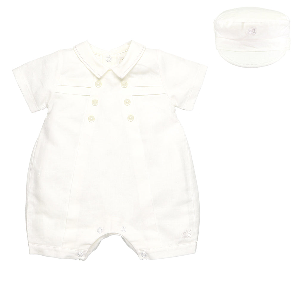 Emile et Rose 'Pierre' Romper with Hat