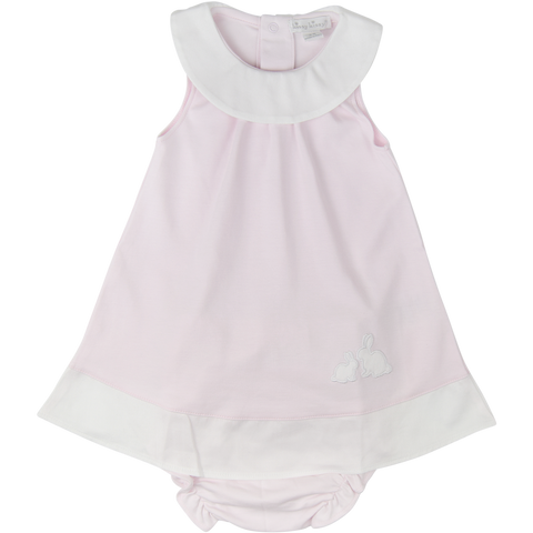 Kissy Kissy 'Pique Cottontails' Pink Dress