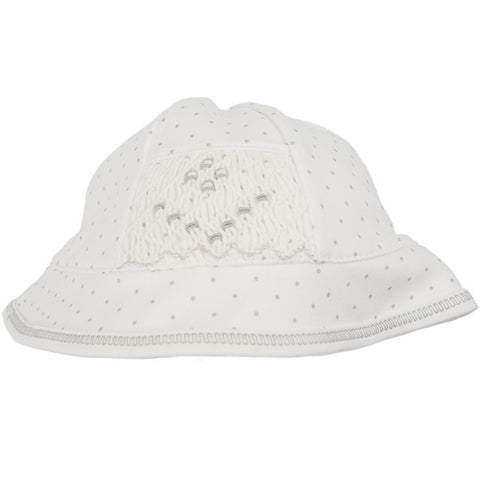 Magnolia Baby Grey Dotted White Hat