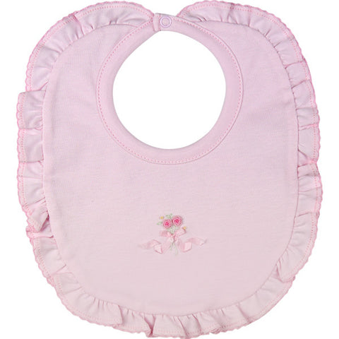 Kissy Kissy 'Rose Ribbons' Pink Bib