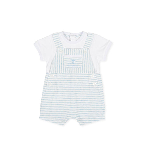 Tutto Piccolo Blue Striped Romper