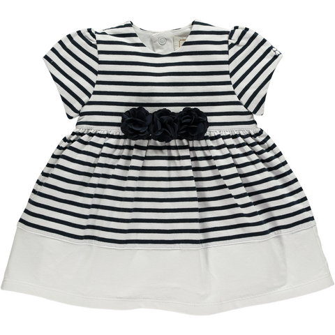 Emile et Rose Navy & White Striped Dress