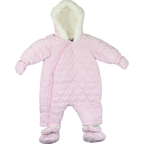 Absorba Pink Hearts Design Snowsuit