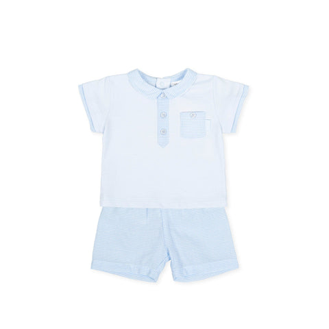 Tutto Piccolo Blue & White Two Piece Set