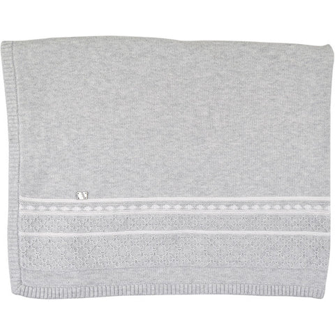 Tutto Piccolo Grey & White Blanket