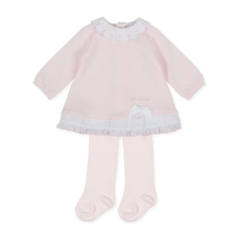 Tutto Piccolo Pink Dress with Tights