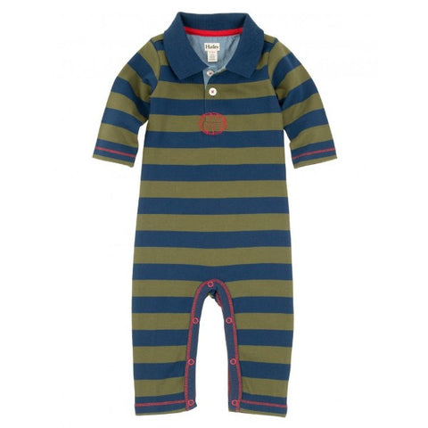 Hatley Navy & Green Striped Romper