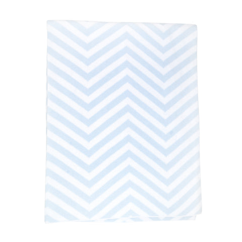 Kissy Kissy Blue Chevron Knit Blanket