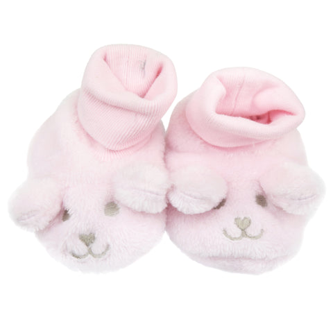 Absorba Pink Fur Booties