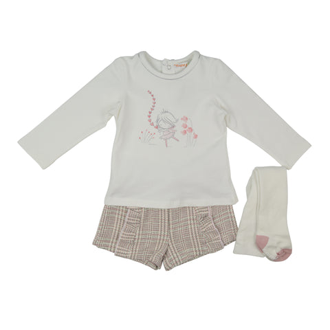 Babybol Girls Two Piece Set with Tights