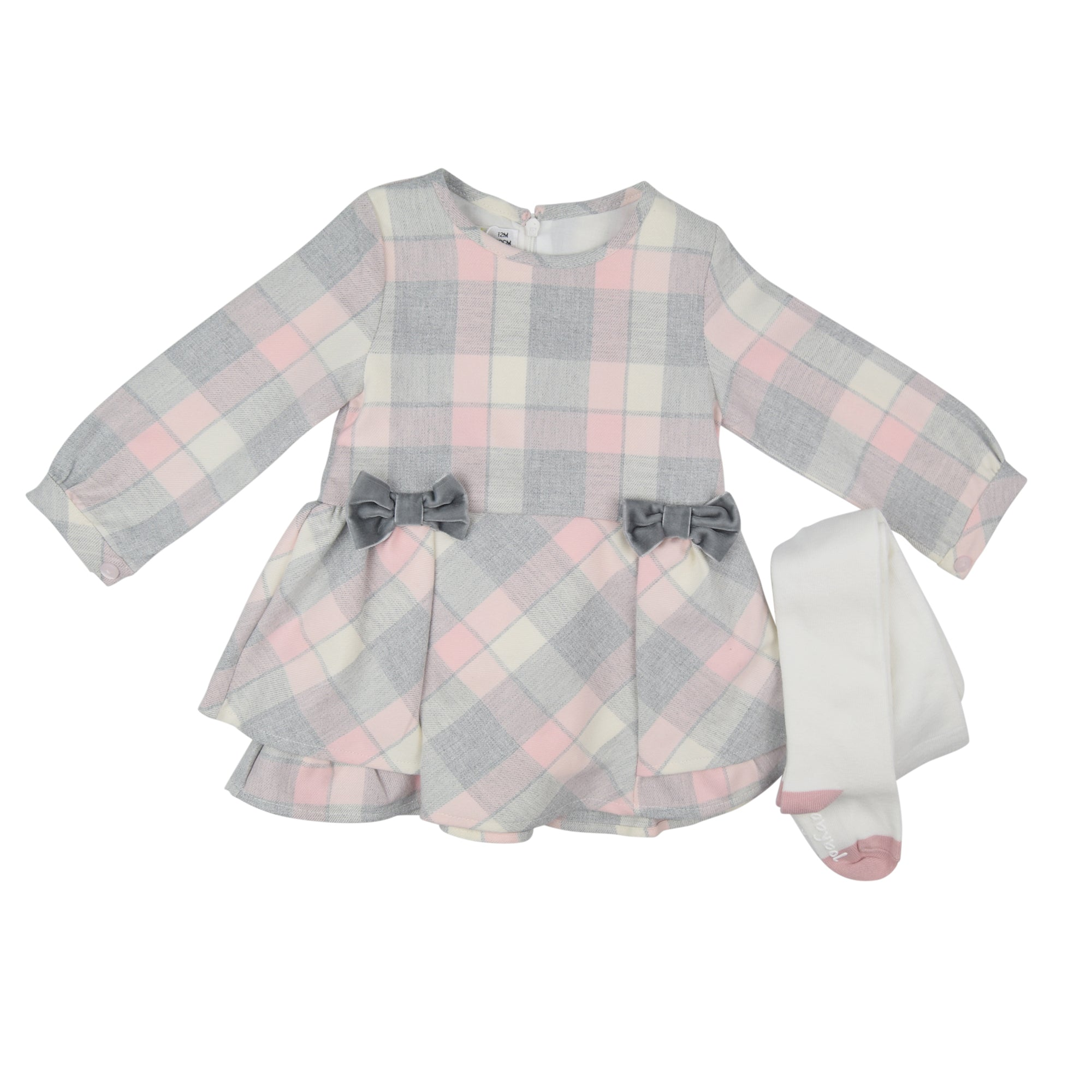 Babybol Plaid Dress with Tights
