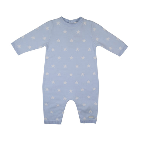 Blues Baby Stars Blue Knit Playsuit