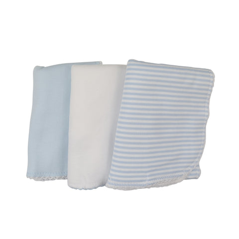 Kissy Kissy Blue Trio of Burp Cloths