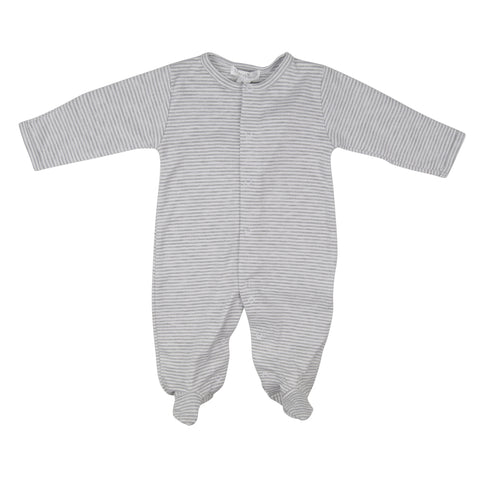 Kissy Kissy Grey & White Striped Babygrow