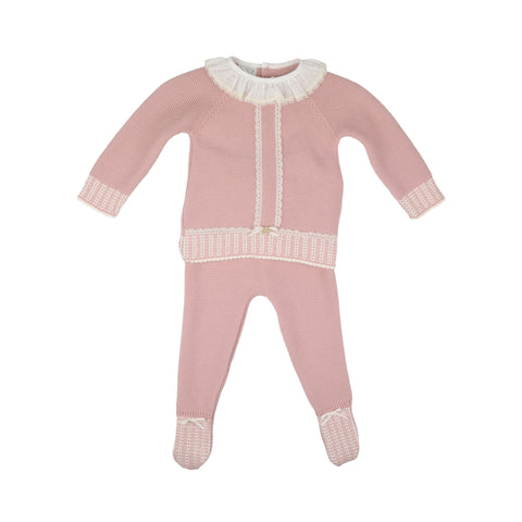 Paz Rodriguez Girls Knitted Two Piece Set