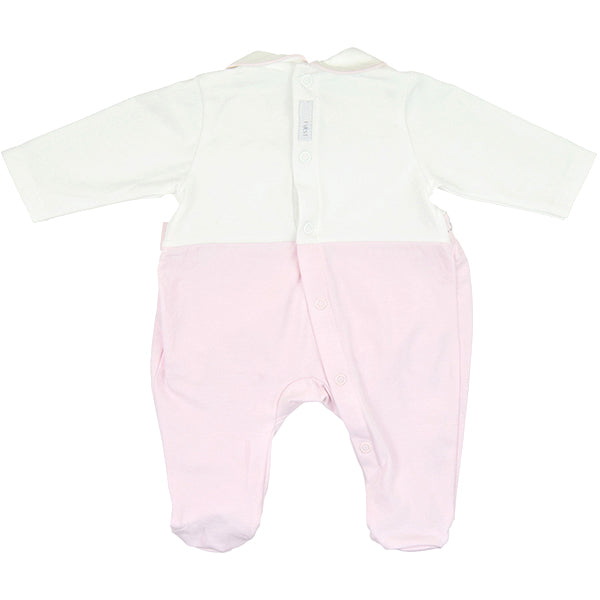 First Diamanté Design Pink Babygrow
