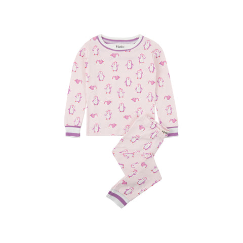 Hatley 'Precious Penguins' PJ Set