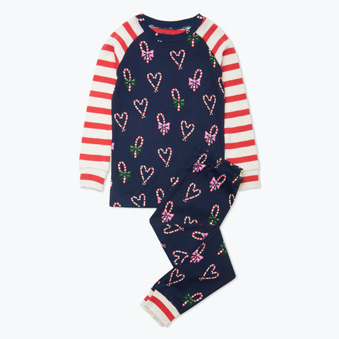 Hatley 'Candy Cane Hearts' PJ Set