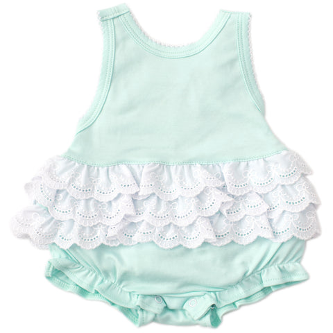 Kissy Kissy 'Elegant Eyelet' Mint Bubble Body