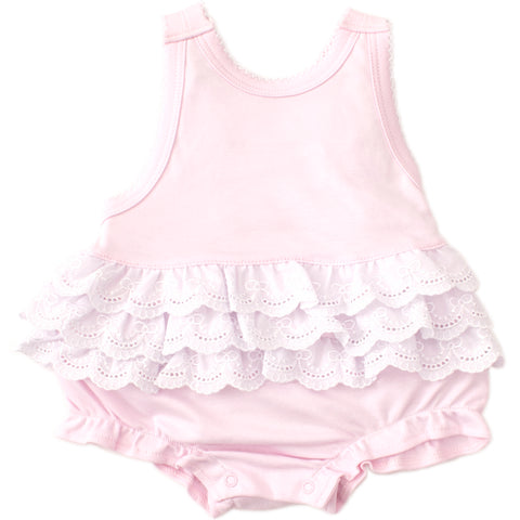 Kissy Kissy 'Elegant Eyelet' Pink Bubble Body