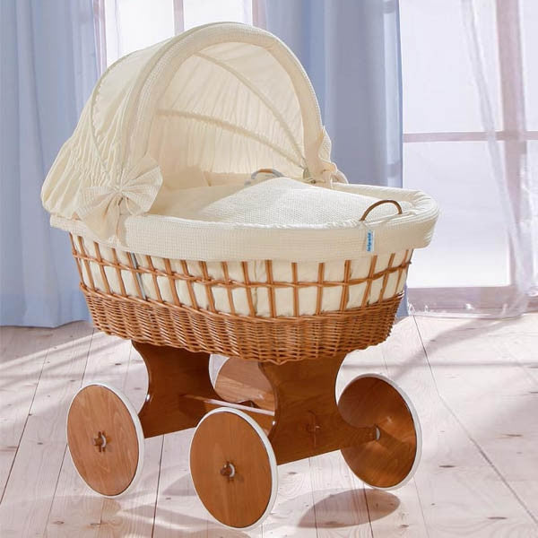 Leipold Antique Wicker Bollerwagen Crib