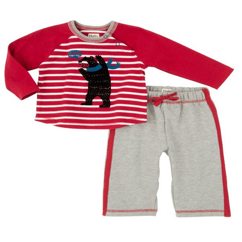 Hatley 'Bear Raglan' Two Piece Set