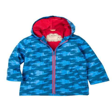 Hatley 'Blue Rocketships' Raincoat