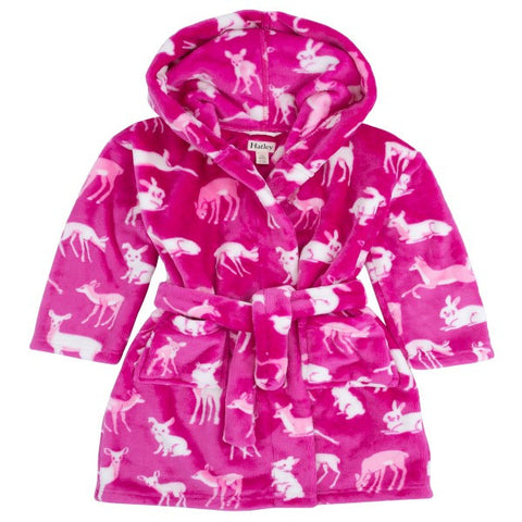 Hatley 'Deers & Bunnies' Fleece Bathrobe