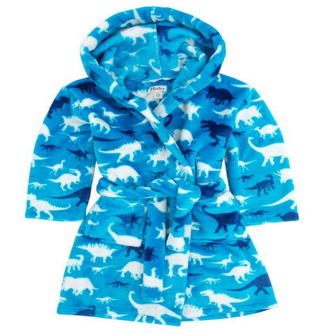 Hatley 'Silhouette Dinos' Fleece Bathrobe