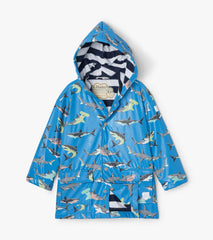 Hatley 'Deep-Sea Sharks' Raincoat - Colour Changing