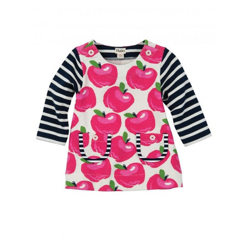 Hatley 'Nordic Apples' Red, Navy & Cream Dress