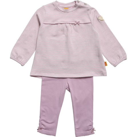 Steiff Purple & White Two Piece Set