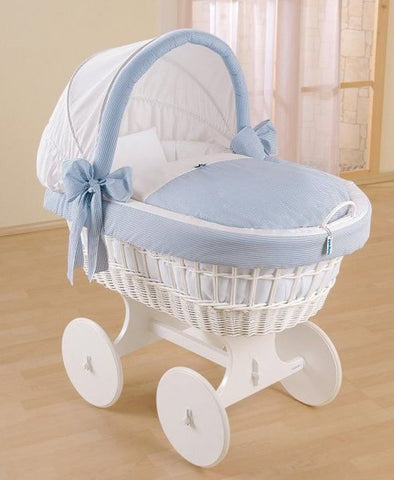 Leipold White Wicker Bollerwagen Crib