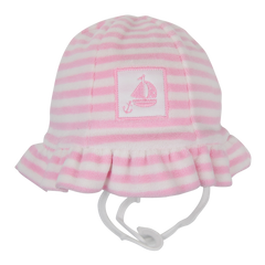 Kissy Kissy 'Gone Sailing' Towelling Pink Sun Hat