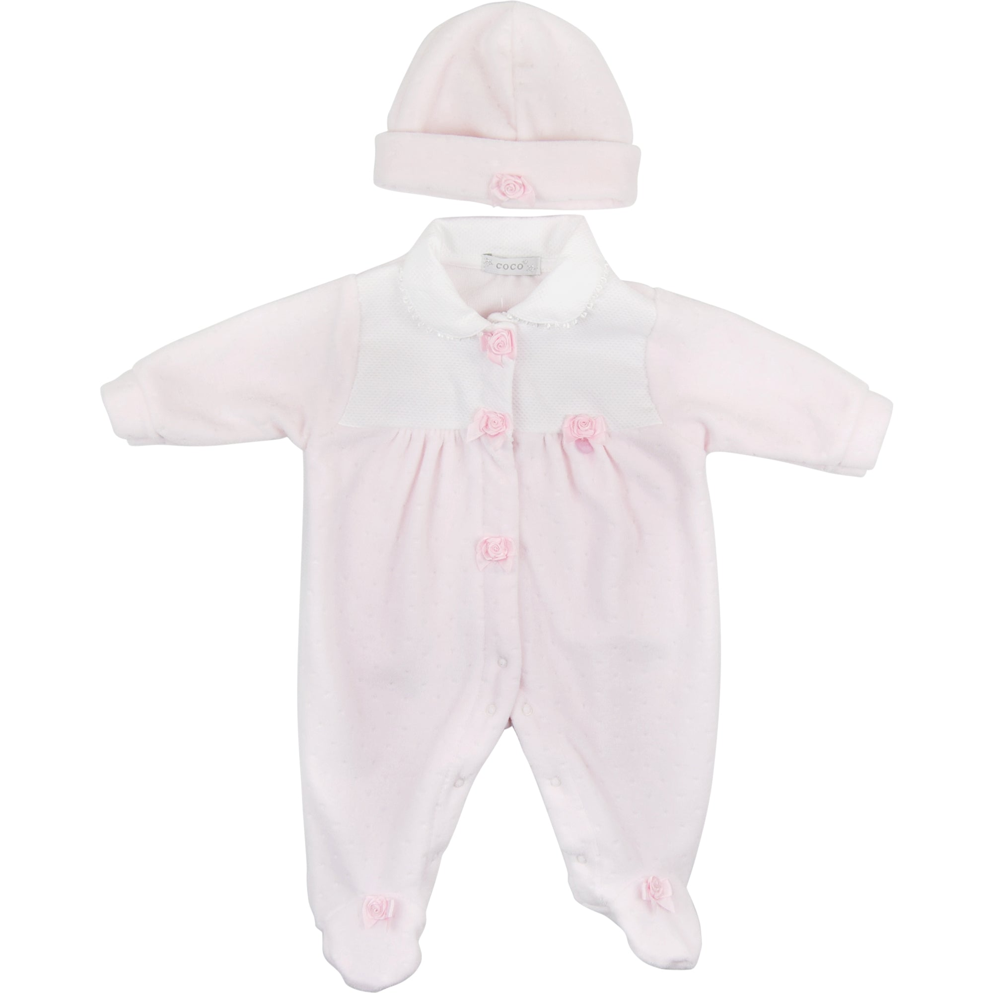 Coco Collection Roses Pink Babygrow