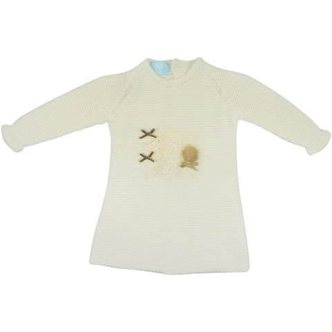 Floc Baby Cream Knitted Dress