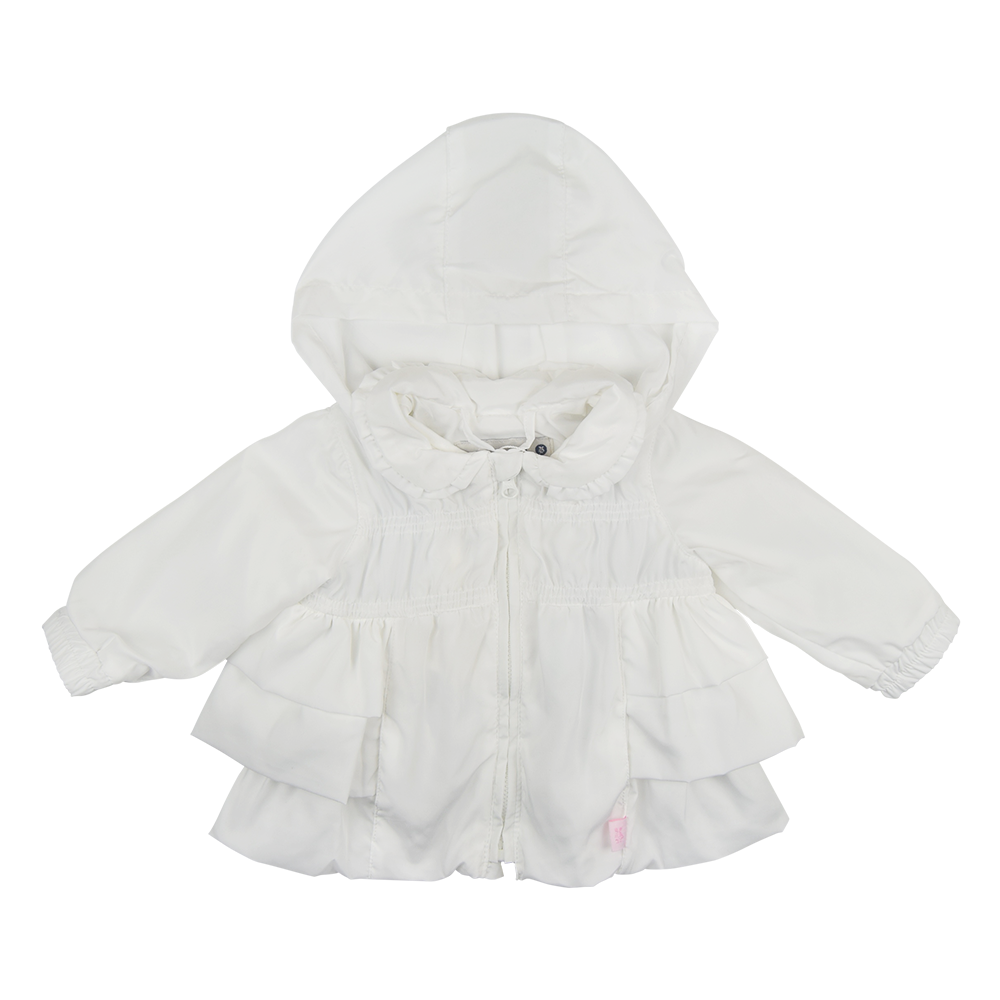 0aa34eac2650 Tutto Piccolo Girls White Raincoat