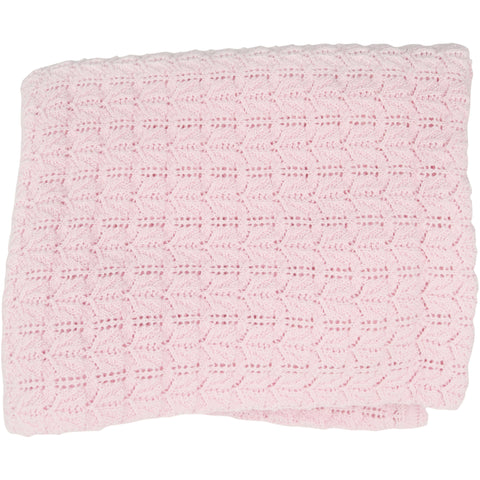 Kissy Kissy 'Dreamscape' Pink Knitted Blanket
