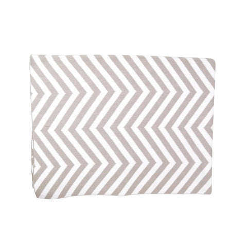 Kissy Kissy Grey Chevron Knit Blanket
