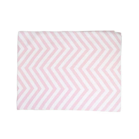 Kissy Kissy Pink Chevron Knit Blanket