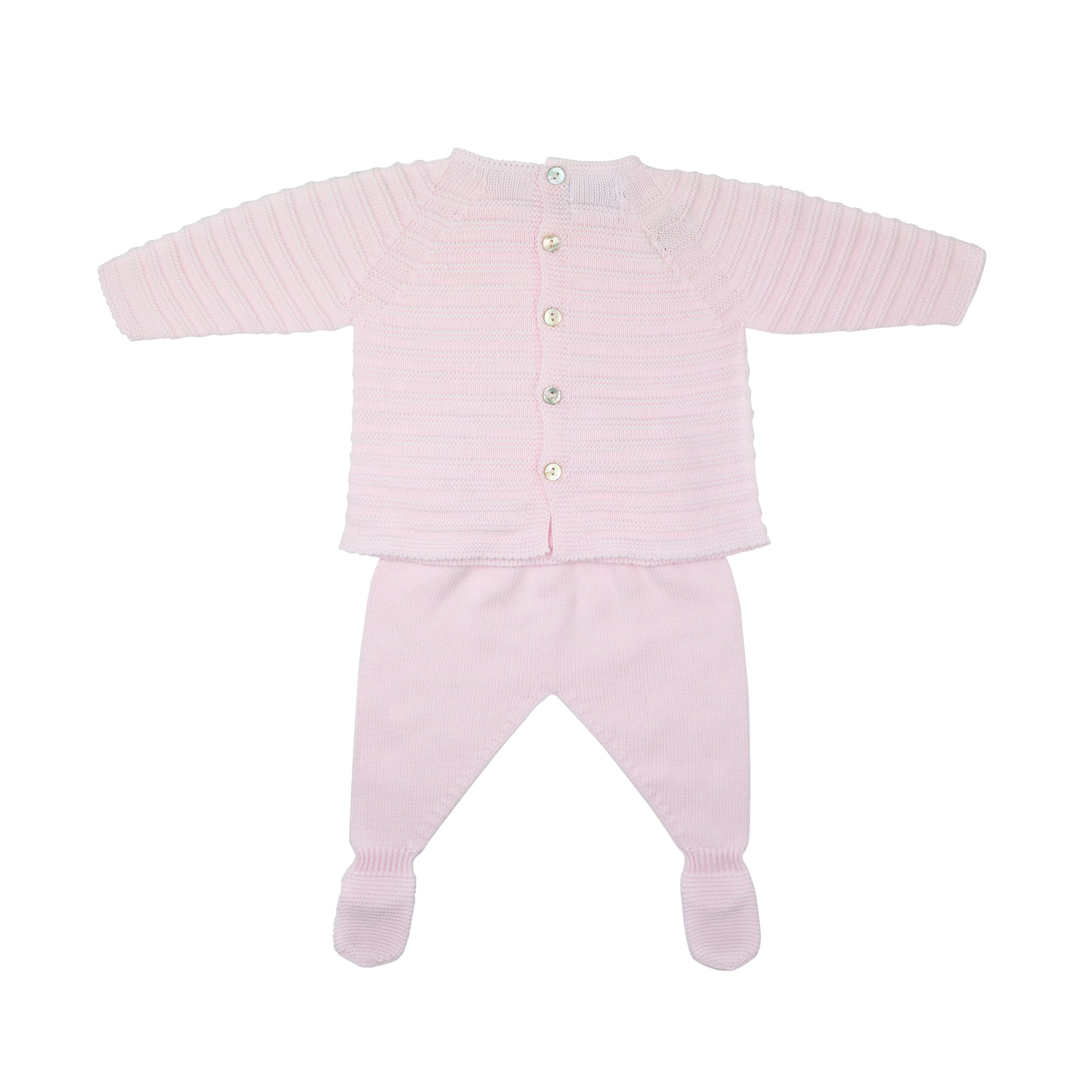 Floc Baby Pink Knitted Two Piece Set