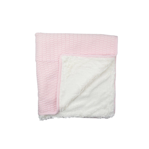 Absorba Pink Knit Blanket
