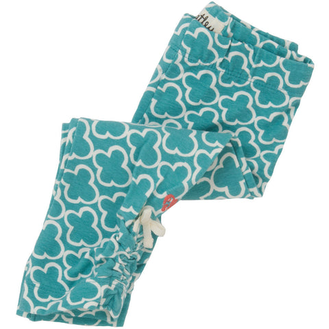 Hatley 'Azure Flowers' Print Leggings