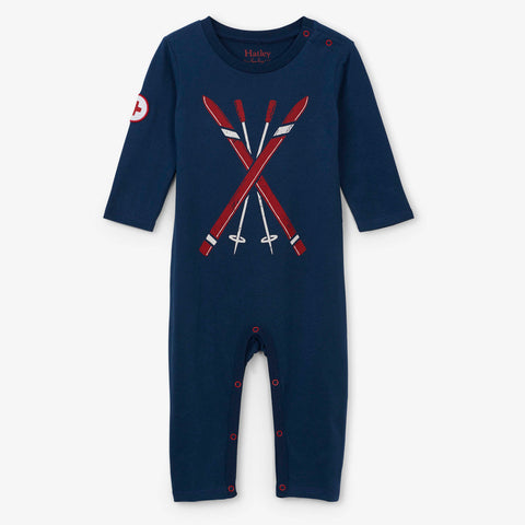Hatley 'Ski Bum' Navy Playsuit