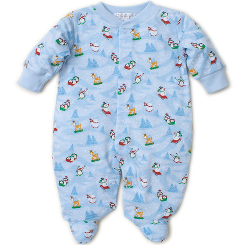Kissy Kissy 'Frosty Friends' Blue Babygrow