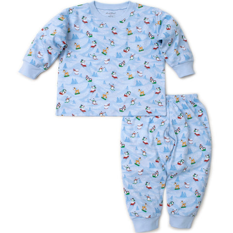 Kissy Kissy 'Frosty Friends' Blue PJ Set