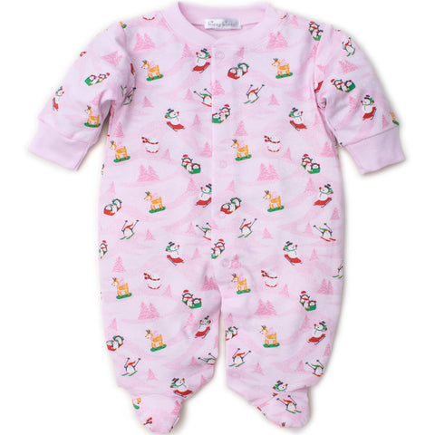 Kissy Kissy 'Frosty Friends' Pink Babygrow