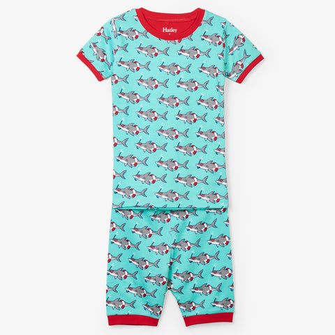 Hatley 'Snorkeling Sharks' Short PJ Set