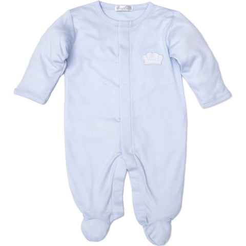 Kissy Kissy 'Pique Royalty' Blue Babygrow